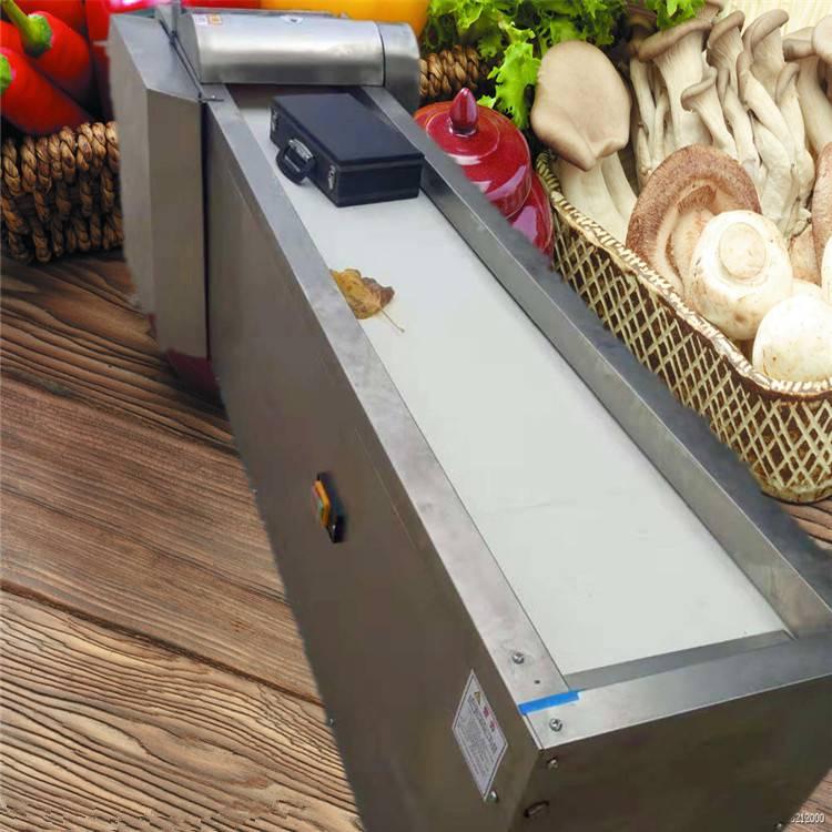 羊肚菌切片机视频 培根切片机价格 富兴定做多功能不锈钢切菜机