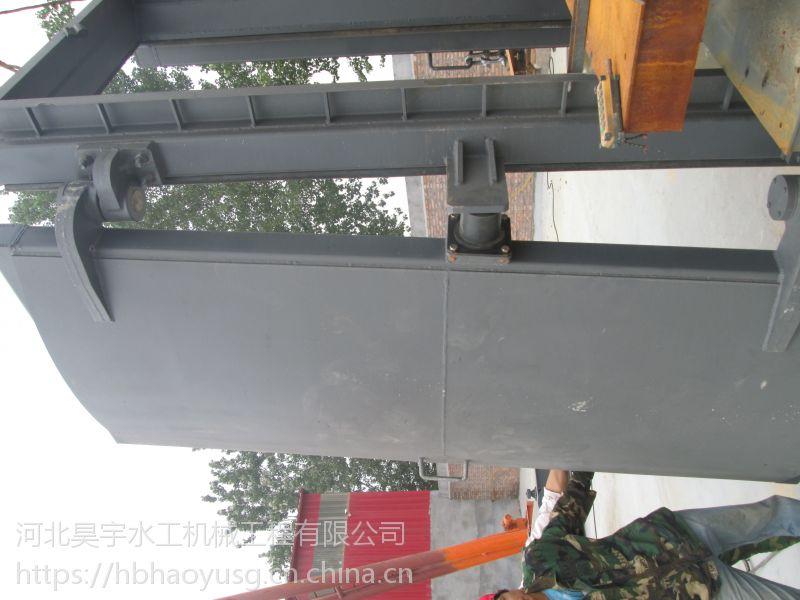 河北昊宇水工耐腐蚀节能型侧翻拍门加工定制厂家直销