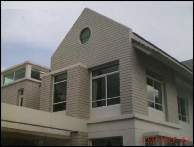 外墙水泥板绿洲别墅木纹木纹别墅板绿活企口木挂板公园水泥吉林市图片