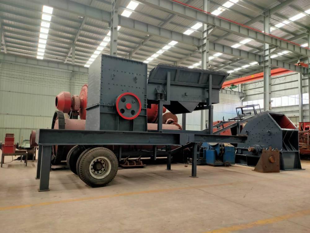 时产200吨移动式石子机 流动碎石机 移动石头破碎机 效果大于一切