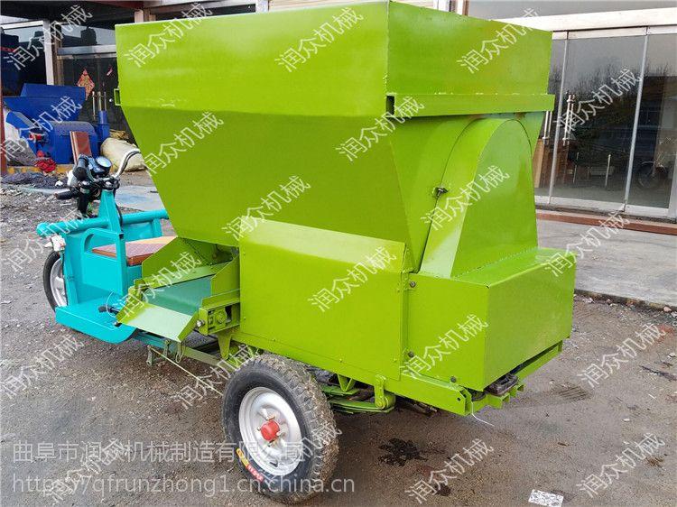 自走式柴油型撒料车 喂养双边养殖设备 根据空间设计养殖车 润众