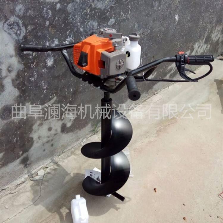 自动螺旋打坑机 汽油打桩种植挖坑机