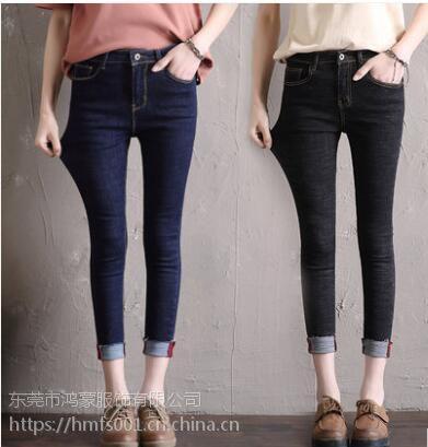专业库存女装牛仔裤 尾货女装牛仔 特价时尚牛仔裤处理 女式服装