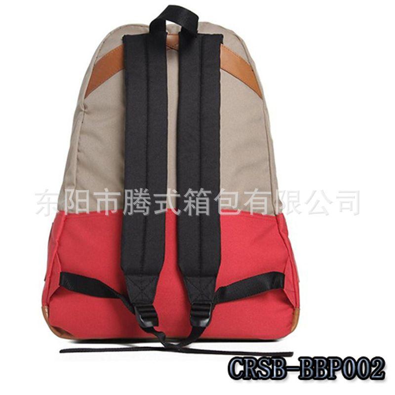 (厂家供应)韩版休闲涤纶学生书包 双肩背包图片