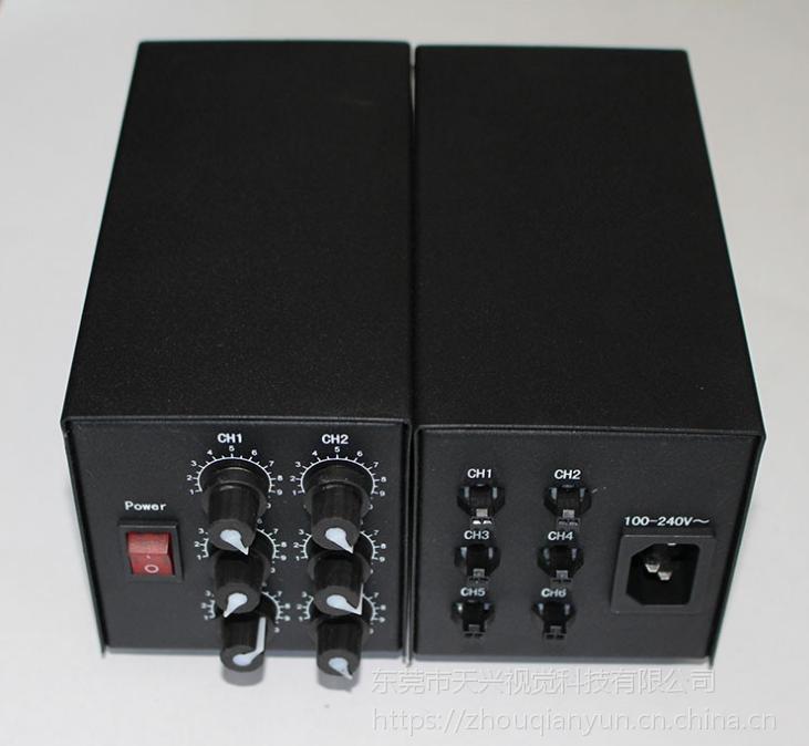 TX机器视觉1/2/4路通道外触发模拟式LED多路光源控制器调节器