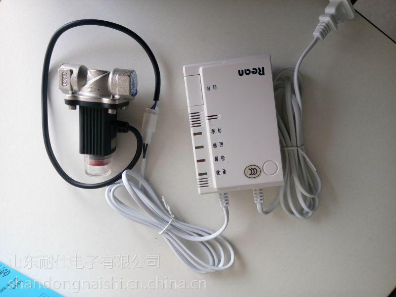 菏泽市15四分管径家用电磁阀 配套家用燃气报警器图片