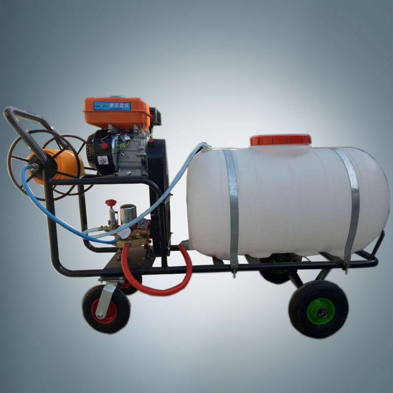 果树农田四轮打药机 手推式汽油喷雾器 启航果园喷雾器