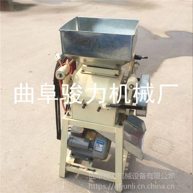 拉丝双对棍型挤扁机 农业五谷杂粮挤扁机 商用燕麦压片机 骏力定制