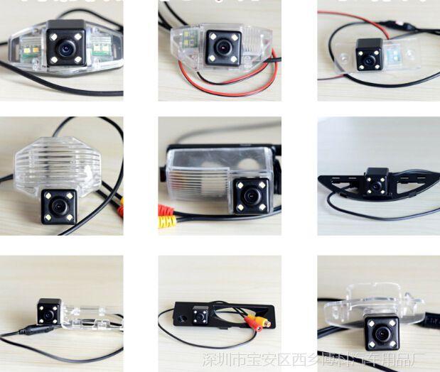 厂家直销车载后视摄像头CCD高清夜视汽车倒车LED监控系统探头批发