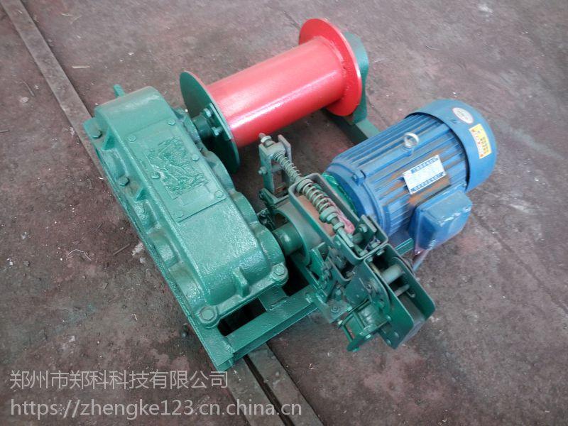 江西贵溪郑科半吨拉力电动制动小型卷扬机