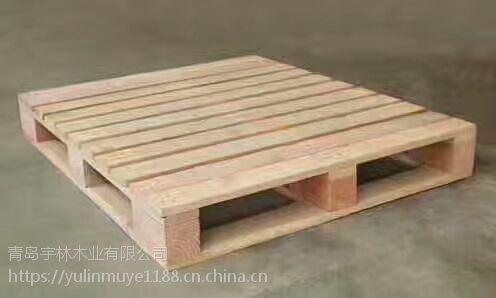 烟台周边托盘木 出口熏蒸托盘打托川字形定制