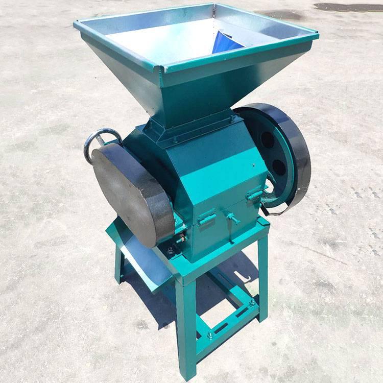 多功能小型麦片机 新款两相电高粱压碎机 大豆破碎挤扁机