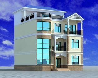 【AT396四层别墅结构建筑构图纸图纸启蒙复式设计911拼说明水电砌消防局图片