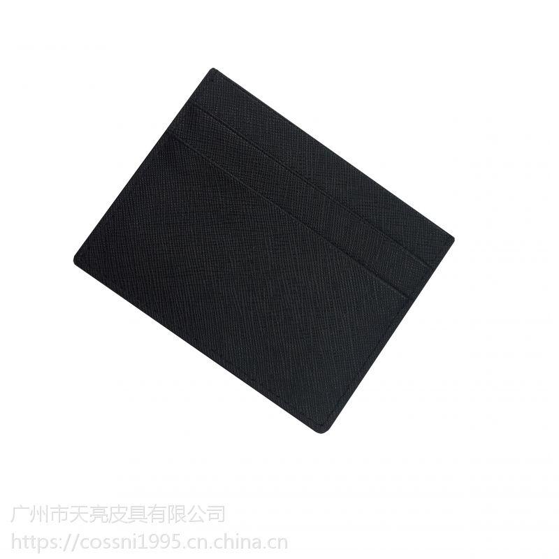工厂直销真皮卡套多卡位牛皮十字纹717321Cossni品牌外贸货源OEM