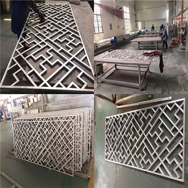 厂家供应木纹铝窗花格栅
