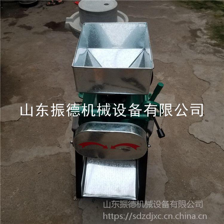 三项电花生破碎机 五谷杂粮电动轧碎机 振德 可调节的高粱破瓣机