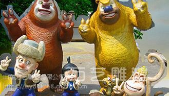 玻璃钢雕塑摆放位置很关键_www.wanyidiaosu.com