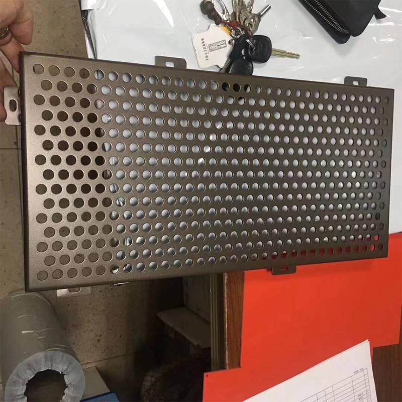 幕墙冲孔铝单板安装实物图 广东欧百建材