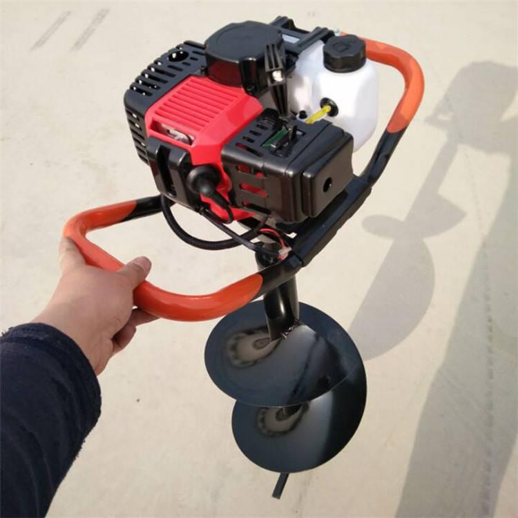 四冲程汽油挖坑机 种树用挖坑打眼机 手提轻便地钻钻孔机