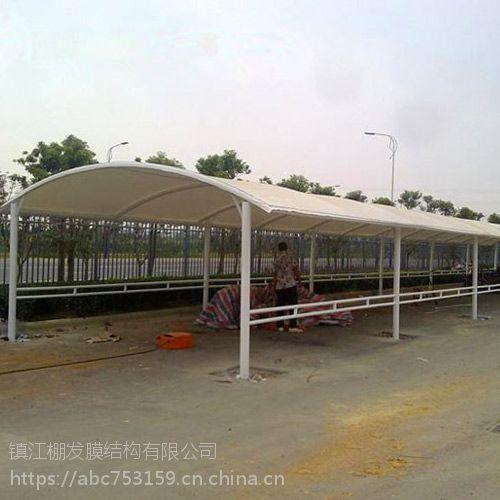 热销停车棚遮阳棚张拉膜公园膜结构进口PTFE膜材膜结构设计安装