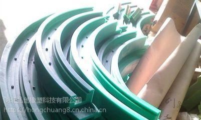 新疆大量加工售后保障 含油尼龙加工件 【尼龙滑道】 聚乙烯滑块 耐用