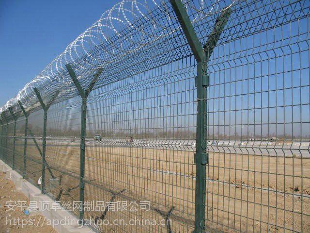 耐腐蚀机场封闭刺丝护栏网 Y型滚笼铁丝防护网 开发区围墙隔离网