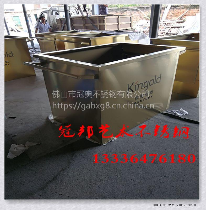 外贸工厂直销 北欧不锈钢创意金色圆形小花盆摆件 多肉金属小花器