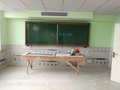 珠海推拉绿板L湛江教学单面磁性绿板C学校专用大型书写板