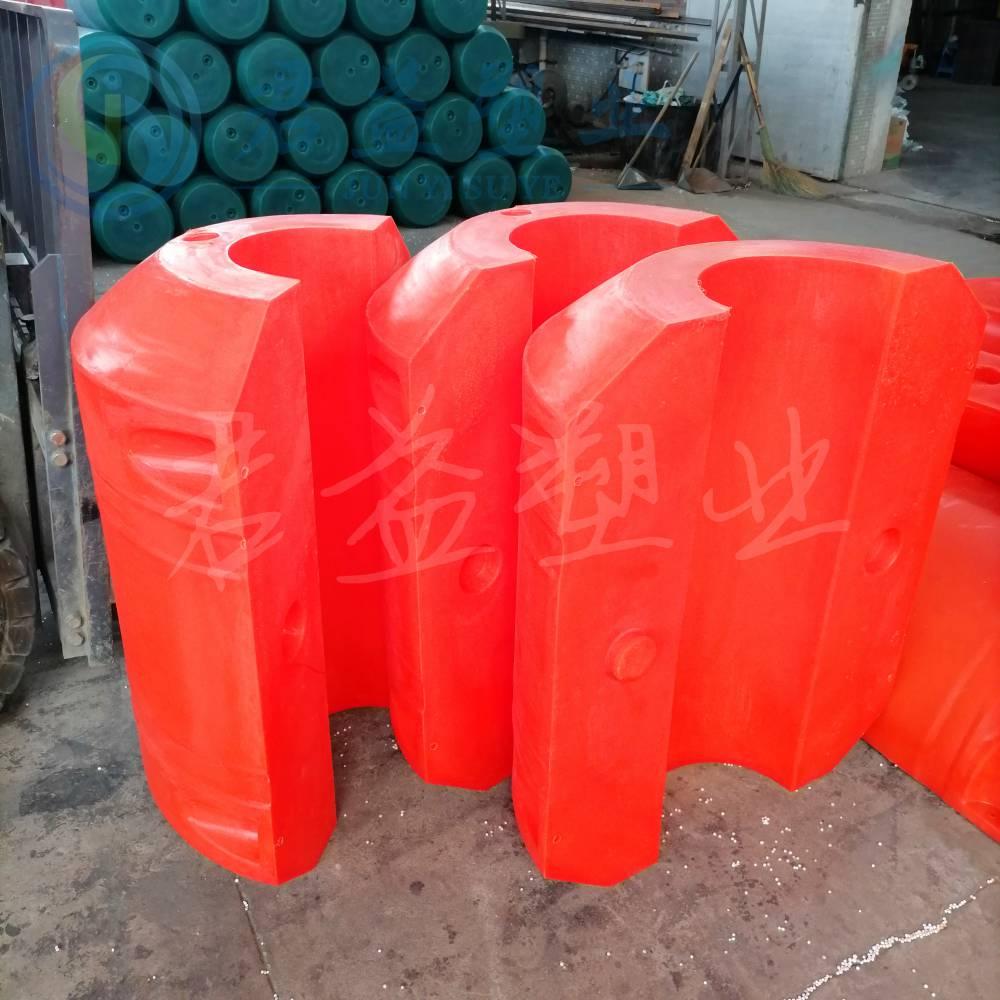 夹管道浮筒 直径500 通孔220mm聚氨酯发泡浮筒