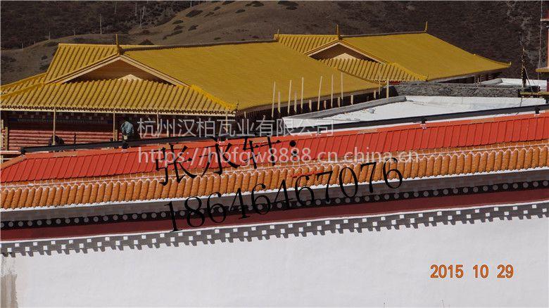 滁州仿古瓦厂家 古建筑 园林 彩陶仿古筒瓦 免做防水