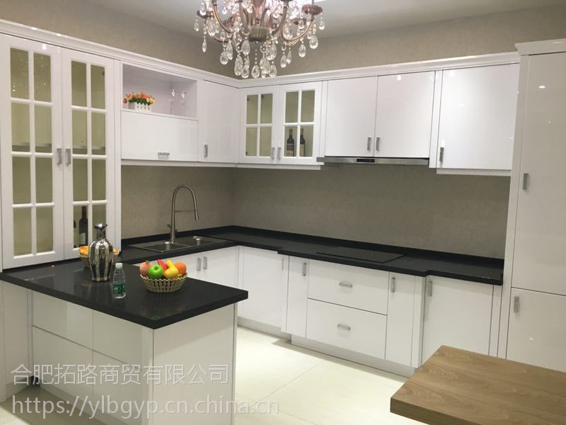 厨房整体家具定制 合肥橱柜台面材质 订购不锈钢橱柜