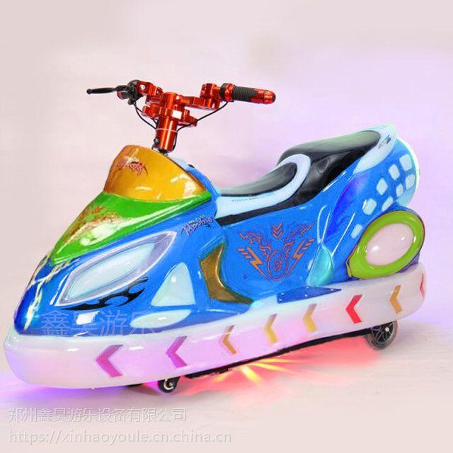 儿童广场极速飞车电动车 户外彩灯玩具遥控车 亲子炫酷发光电动车