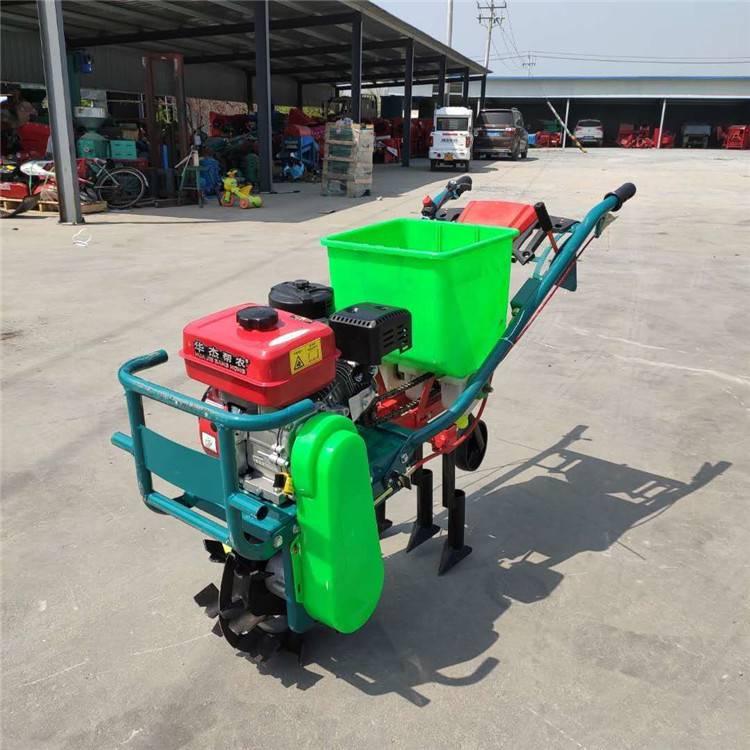 小麦追肥机 汽油自走式施肥机 圣鲁玉米播种机