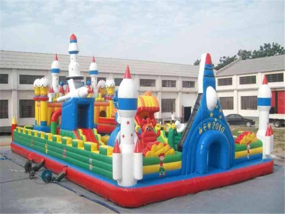2018年新款章鱼充气城堡 郑州心悦12X7米大型儿童充气蹦蹦床厂家热销