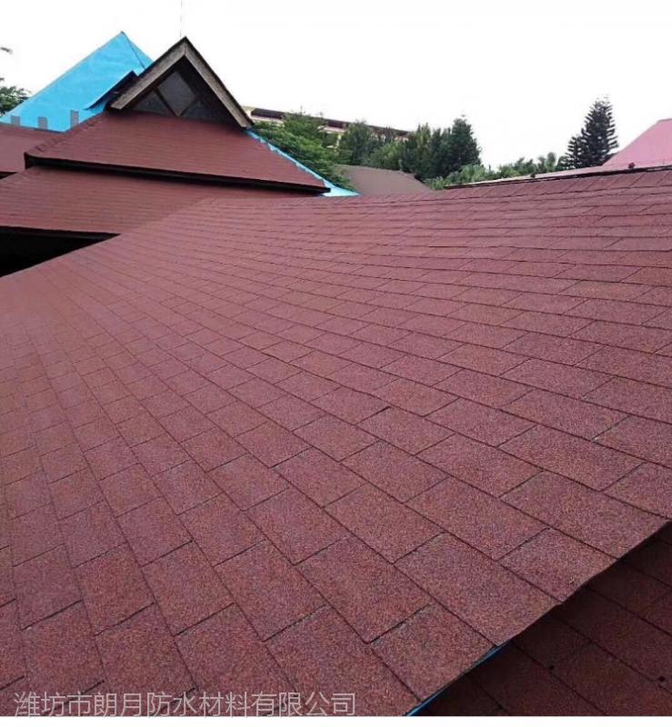 厂家直销马赛克型彩色沥青瓦 别墅屋顶用瓦 寿命长50年不损坏