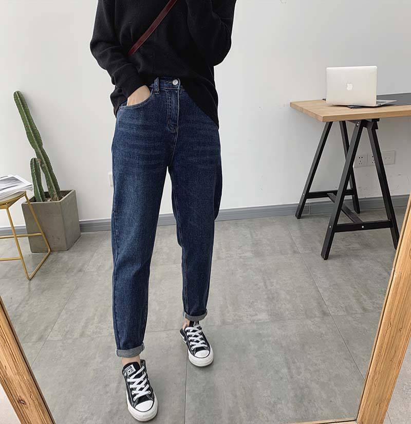 便宜库存弹力牛仔裤时尚韩版修身高腰弹力小脚裤批发女装裤子清货