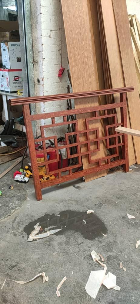 木纹铝花格 铝合金方管焊接花格