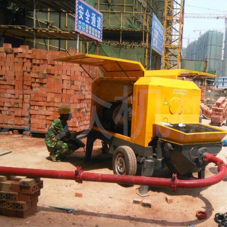 柴油机驱动高层楼房专用细石输送泵试机视频