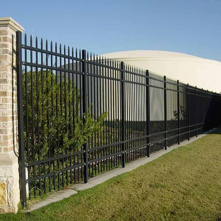 广州优质小区围墙防护栏 三横杆栅栏现货 中山电站2米高隔离栏可定制