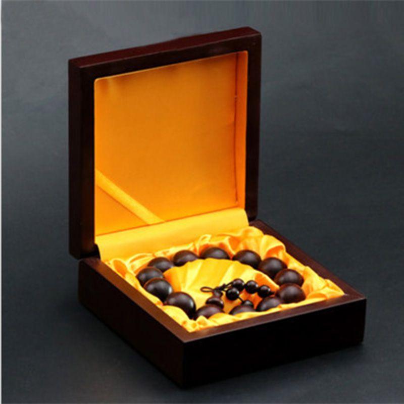 实木珍藏紫檀佛珠盒高档项链手镯盒 文玩收纳首饰礼品包装盒批发