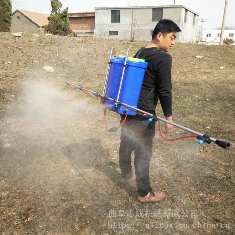 新型农用肩背式电动打药机 高效支架式喷雾机 20L农田杀虫机志成直销