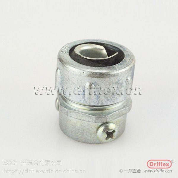 长春包塑软管与钢管连接器 锌合金材质 螺钉式连接 卡套式接头