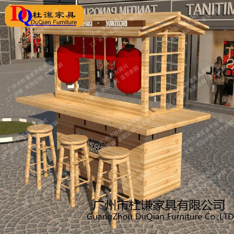 武汉购物广场花车 木制售货车批发