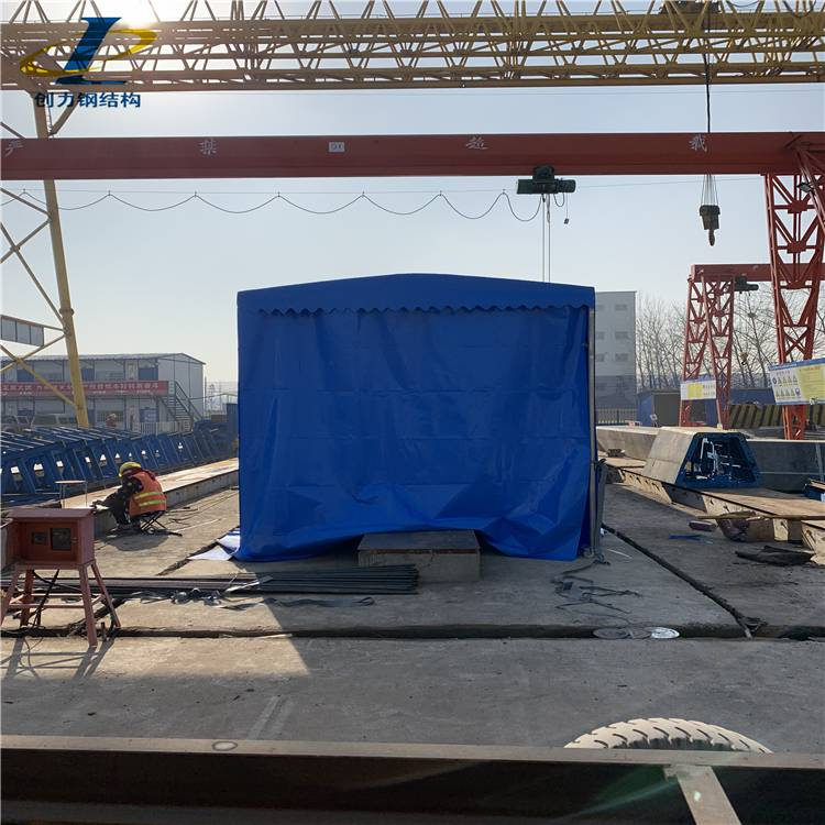 创力篷业定制推拉雨蓬活动雨蓬大型工业仓库篷防火阻燃不