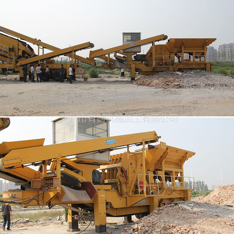 20-40mm花岗岩块石移动打石机生产成本 道砟碎石车载移动加工设备
