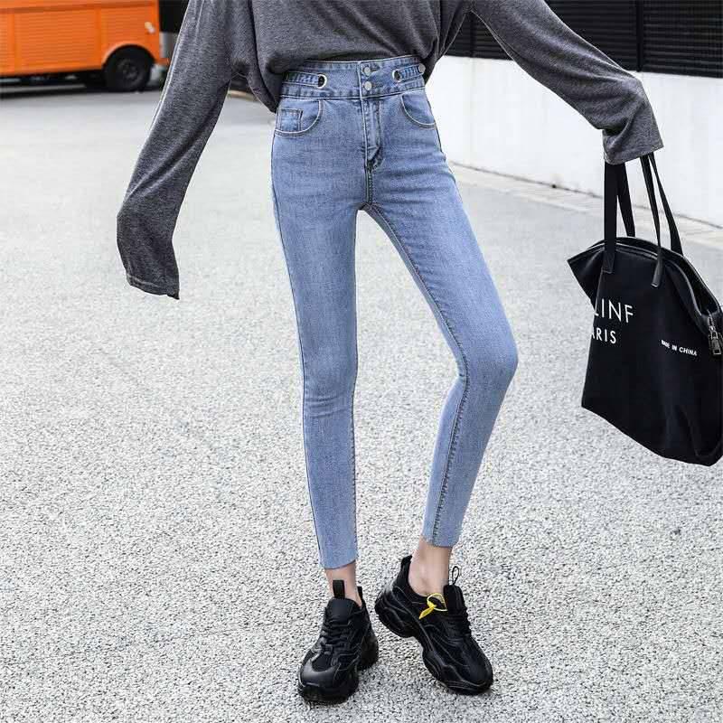 2018全清女士牛仔长裤批发全棉时尚女士裤子批发几元牛仔长裤批发