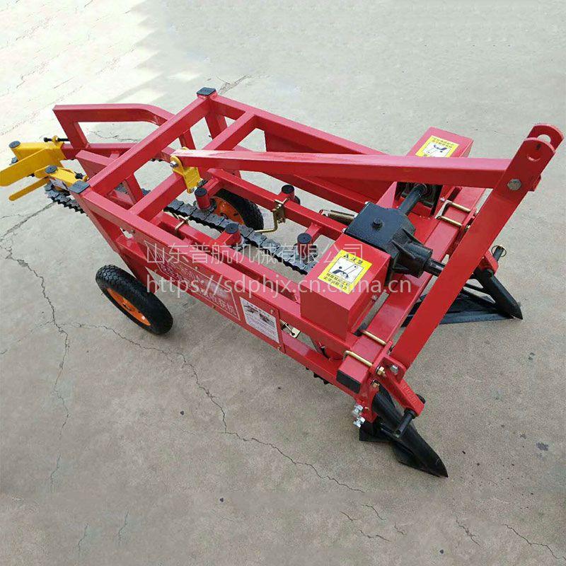 广东链条式花生起果机 侧向铺放薯类收获机 普航收花生的机器哪里有卖