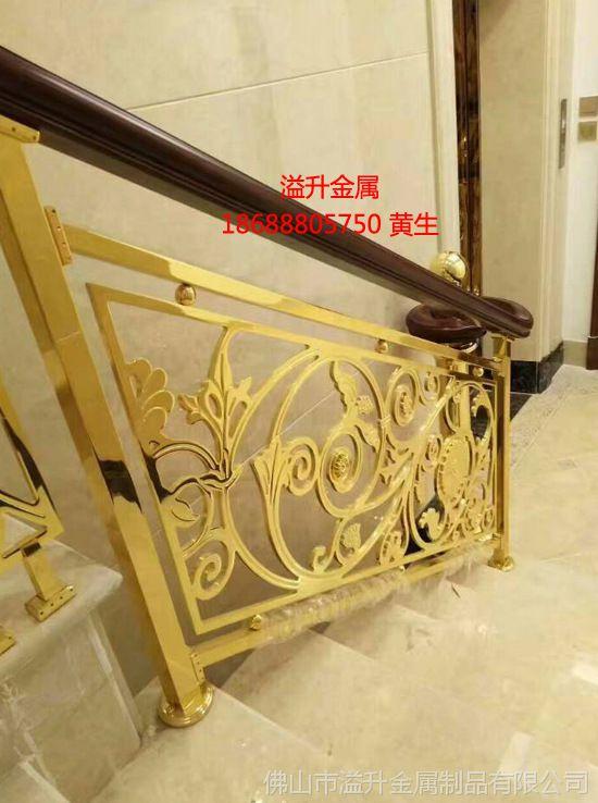【常熟市护栏室内别墅楼梯欧式高档铜艺护栏15x9设计图别墅现代米图片