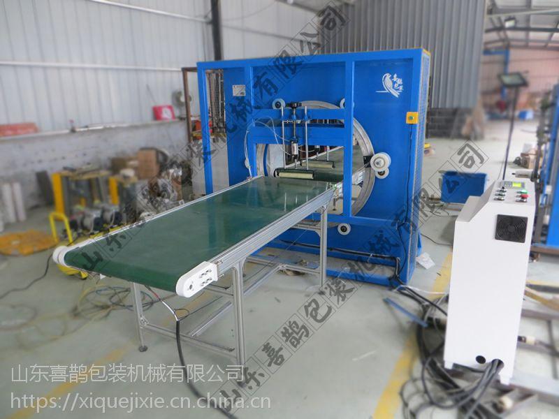 山东薄膜缠绕机 缠绕水平机 型材缠绕机 喜鹊机械