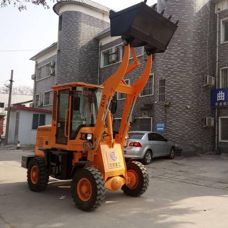 旭阳牌养殖场抓草机柴油装载机ZL10施工小铲车